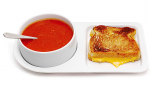 Soup and Sandwich ceramic tray - of course pictured with tomato soup and grilled cheese which is so good omg