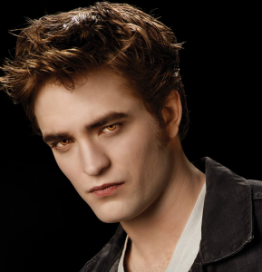 Edward Cullen with yellow-amber eyes
