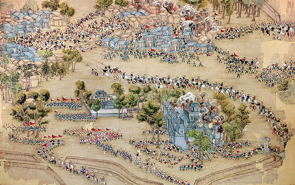 A scene from the Taiping Rebellion, artist unknown