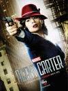 Agent Carter poster - she's wearing a red fedora and deep red lipstick and it's incredible