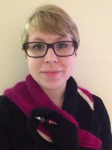 Elyse in her shawl