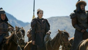 "Actress Claudia Kim wearing some awesome armor as Khutulun in ""Marco Polo"