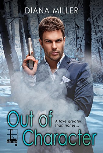 So this is a romantic suspense, and this dude is standing in the snow facing the reader holding a handgun pointing it straight up in the air. There' s all this SMOKE coming out of his crotch, it looks like.