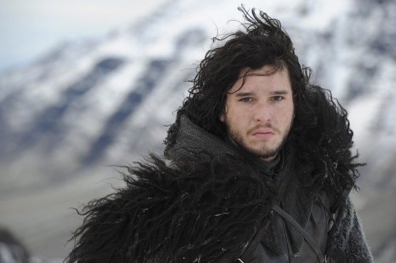 John Snow looking cold and miserable which is pretty much how he always looks from what we can tell