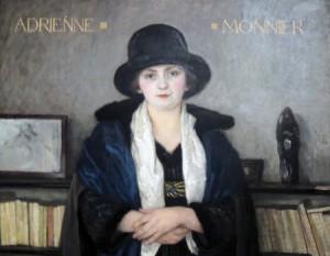 Oil painting of Adrienne Monnier by Paul-Émile Bécat