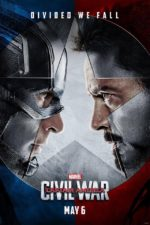 Captain America Civil War poster - Cap and Iron man facing each other menacingly