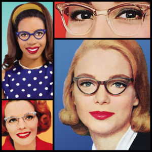 The Ladies, including the newest lady, who has a blue polka dot dress and glasses and is black
