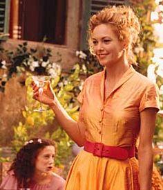 Orange Dupioni Dress In Under The Tuscan Sun