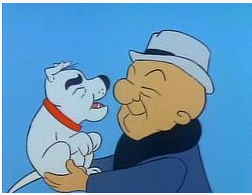 Cartoon character Mr. Magoo - a bald blind man