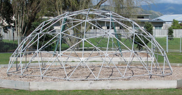 One of those horrifying, metal geodesic domes that appeared in playgrounds in the 70's and 80's.
