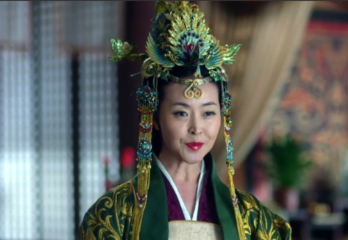 The Empress. Her adopted son Prince Yu competes with the Crown Prince for favor and power.
