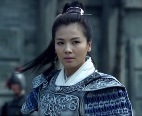 Princess Nihuang in her military armor. She's controlled the military forces of her family for a number of years.