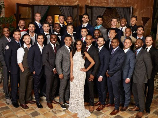 Rachel with the entire cast of the Bachelorette