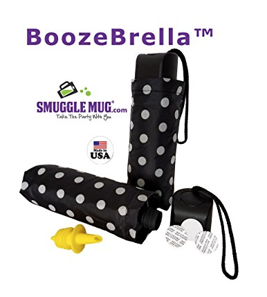 BoozeBrella - a flask hidden as a fold up umbrella