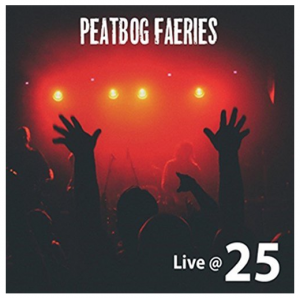Peatbog Faeries Live at 25 album cover - a red lit stage with hands in the air from the crowd in the foreground
