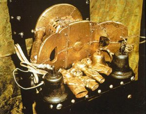 The Golden Stool, seen lying on its side