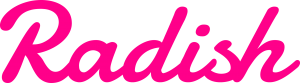 Radish - script in pink