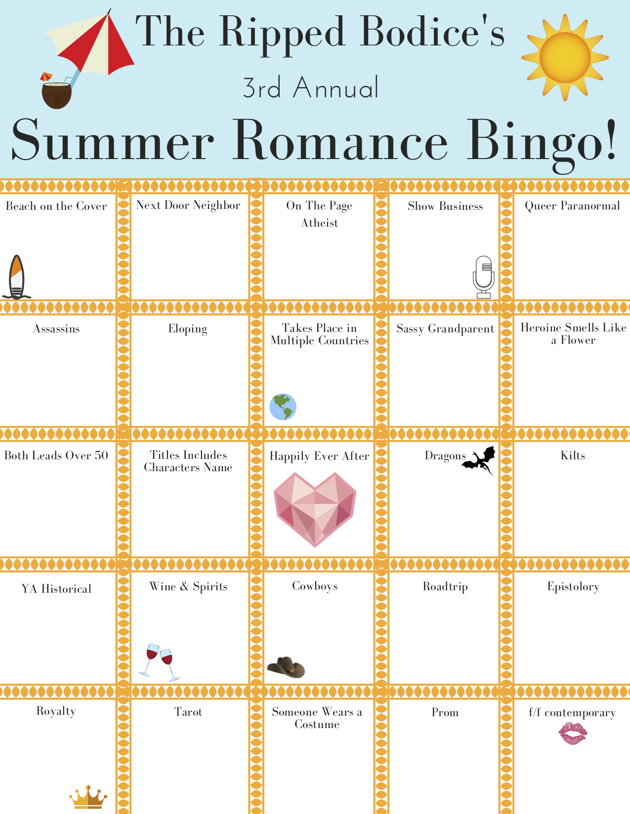 Recommendations for The Ripped Bodice's 2019 Summer Romance