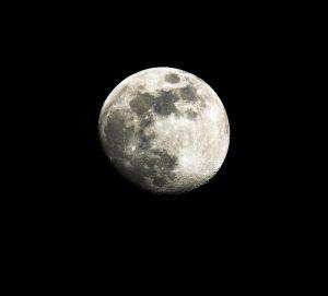 Gorgeous Full Moon In A Dark Black Night Sky