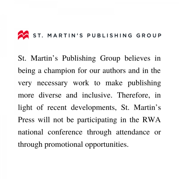 Statement from St Martins transcribed below