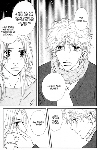 Momo tells Sumire all the reasons he needs her.