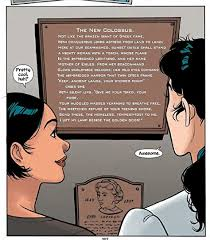 Diana and her friend look at the statue of liberty inscription poem by Emma Lazarus