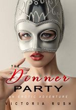 A woman is wearing a weird, silver mask and it looks like the title is The Donner Party