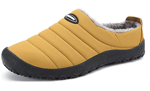 UBFEN Quilted lugg sole slippers lined with fluffy fabric