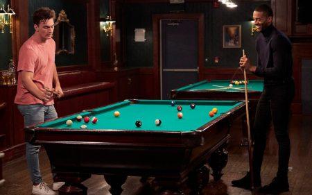 Matt and Tyler C play pool