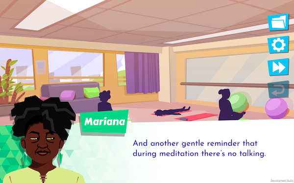 Screenshot from Later Daters of Mariana, one of the love interests