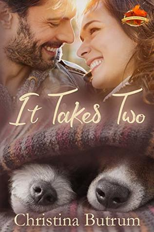It Takes Two by Christina Butrum. A smiling couple's torsos are replaced by two  dog noses beneath a blanket, but it's creating quite the optical illusion.