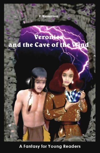 Veronica and the Cave of the Wind by J. Hamilton. God, so much bad photoshop. Namely that children's faces are placed onto adult bodies and there's a purple lightning storm