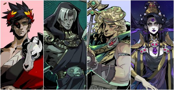 The four main characters of Hades