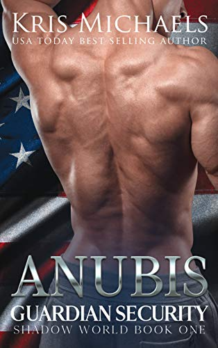 Anubis by Kris Michaels. It's just a dude's kind of muscular back standing in front of the American flag.