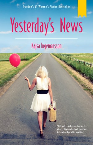 Yesterday's news: A girl walking an empty road with a suitcase and a red balloon in her hand.