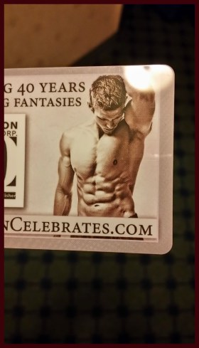 Hotel Keycards celebrated 40 years of Kensington Publishing with a full set of abdominal muscles.