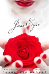 Jane Eyre - red lips, red nail polish, red rose.