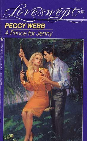 A Prince for Jenny. She's wearing orange and he's behind her while she sits on a swing.