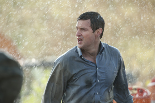 More Richard Armitage soaking wet in a shirt in the rain