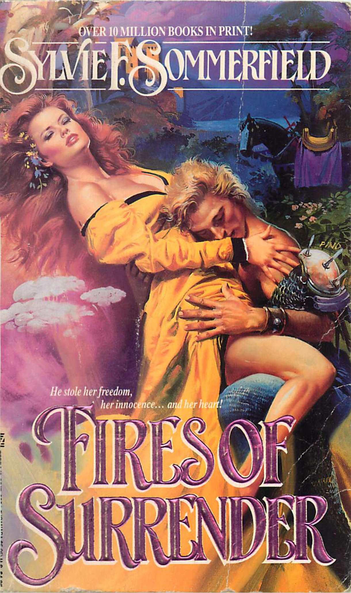 Fires of Surrender - not only is she floating on a fart cloud while he writhes in her lap but there's a horse in the background looking very confused