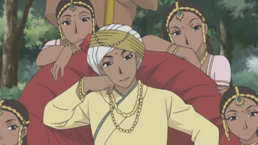 Hakim surrounded by his harem