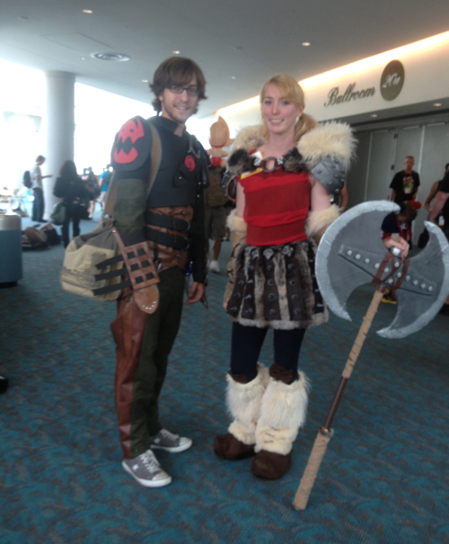 Astrid and Hiccup from How to Train Your Dragon - cosplay done perfect -  says Sarah