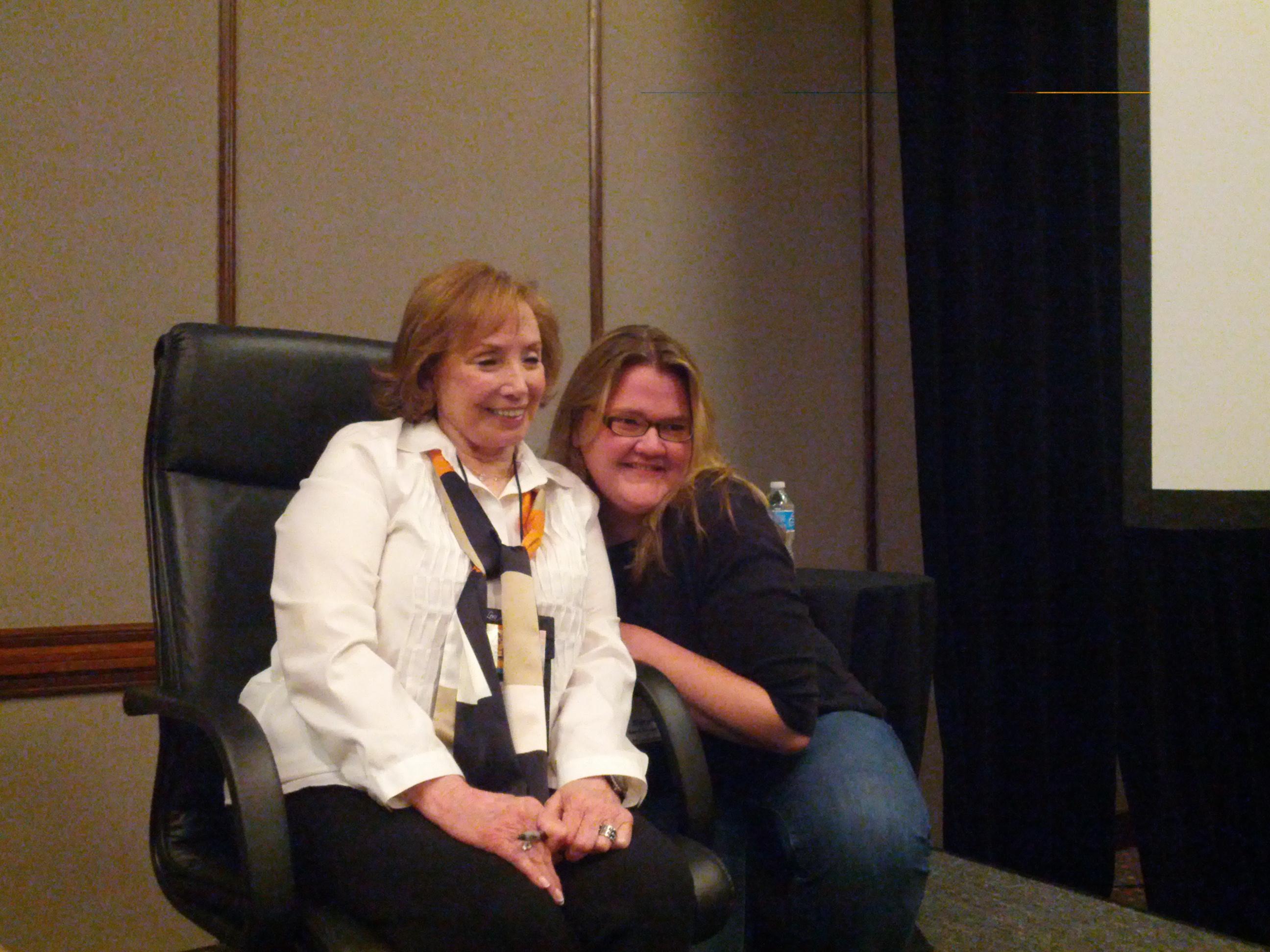 A slightly verklempt Sarah MacLean and Julie Garwood