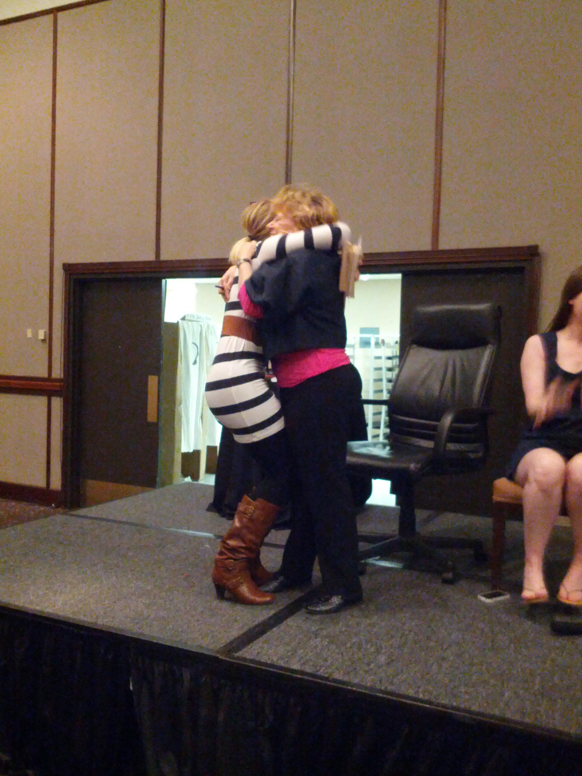 Gave Jude Deveraux a huge hug