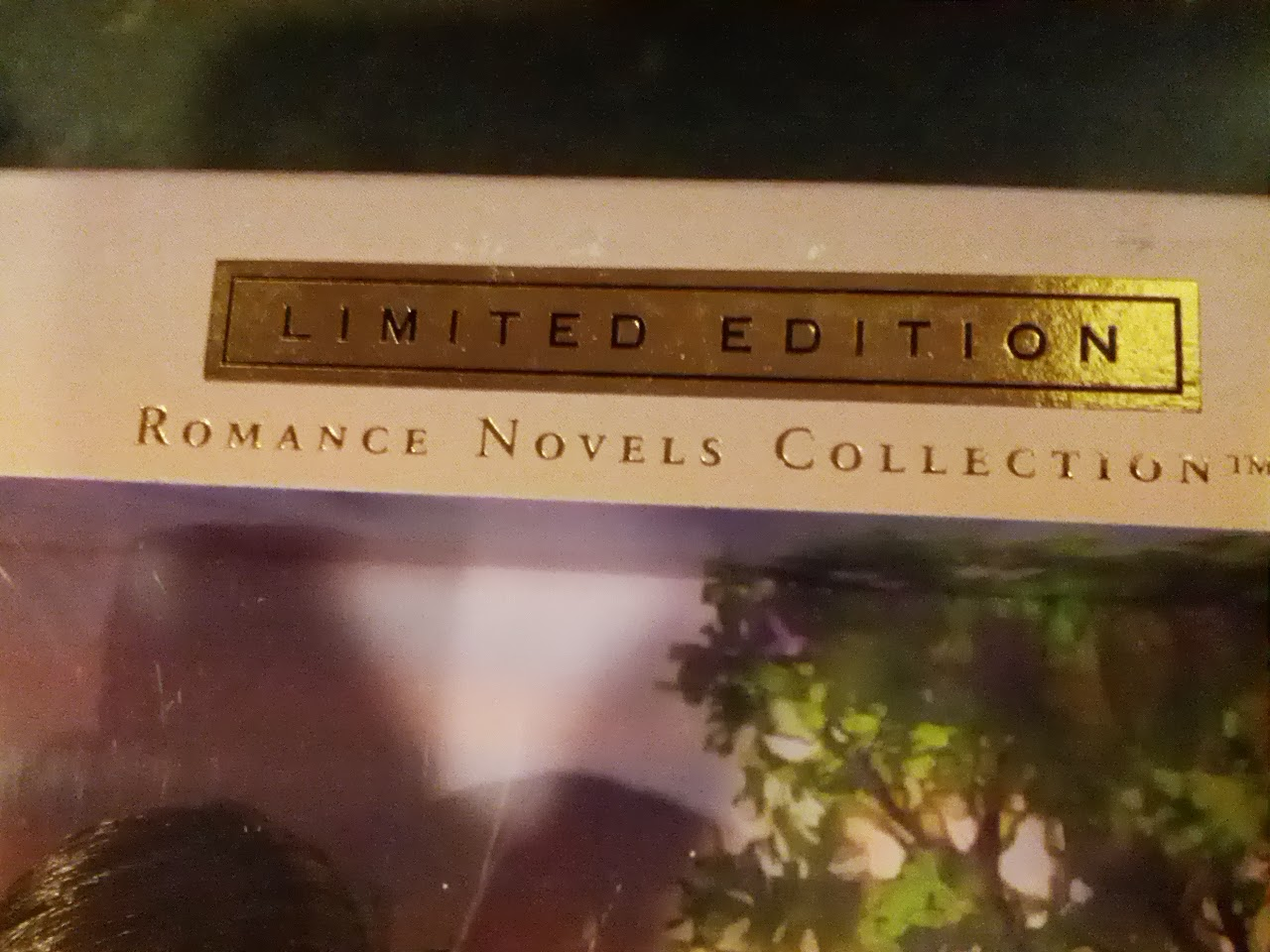 Barbie Limited Edition Romance Novels Collection on the top of the box