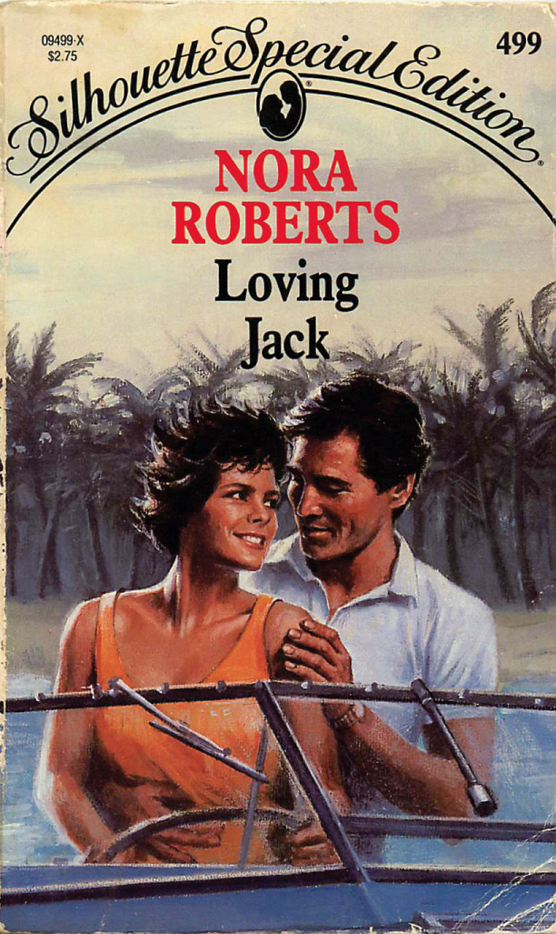 Loving Jack by Nora Roberts - two people in a speed boat, and the chick looks like Angie Harmon from Law & Order