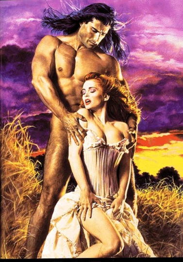 Man of My Dreams - Naked Fabio who appears to be thrusting into a woman's spine as she kneels in front of him