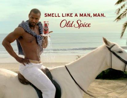 Isaiah Mustafa as the Old Spice Guy