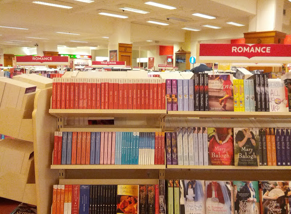 There was a romance section, and a separate paranormal romance section.