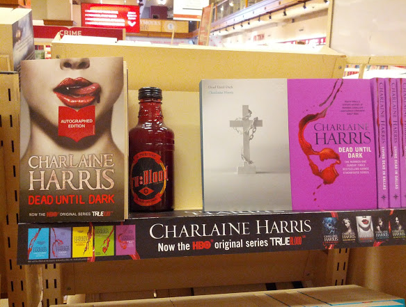 The other two covers, plus a bottle of Tru-blood drink (ew).